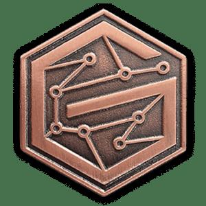 antique copper pins