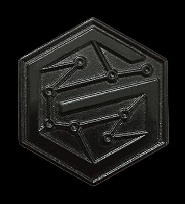 black metal pins