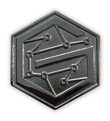 black nickel pins