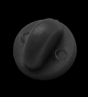 black rubber clutch