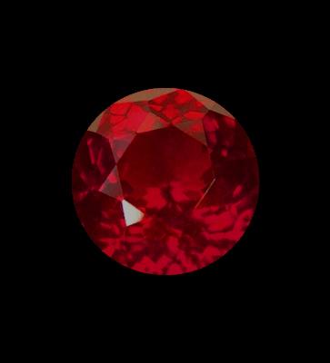 dark red gemstone