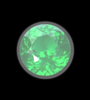 light green gemstone