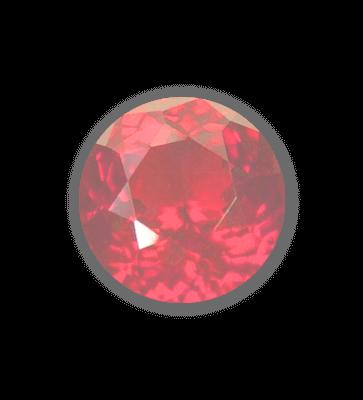 light red gemstone