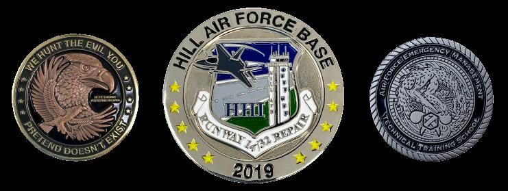 military custom coins