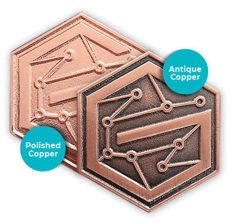 pin copper metals