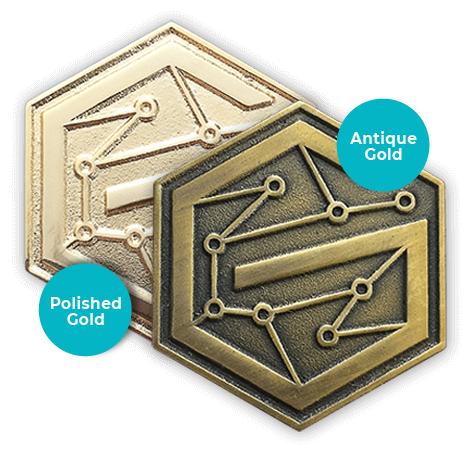 pin gold metals