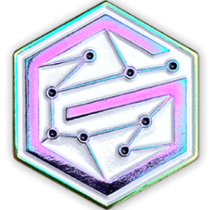 pin rainbow metal