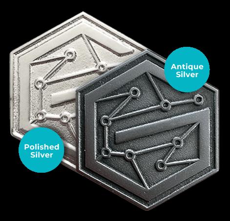 pin silver metals