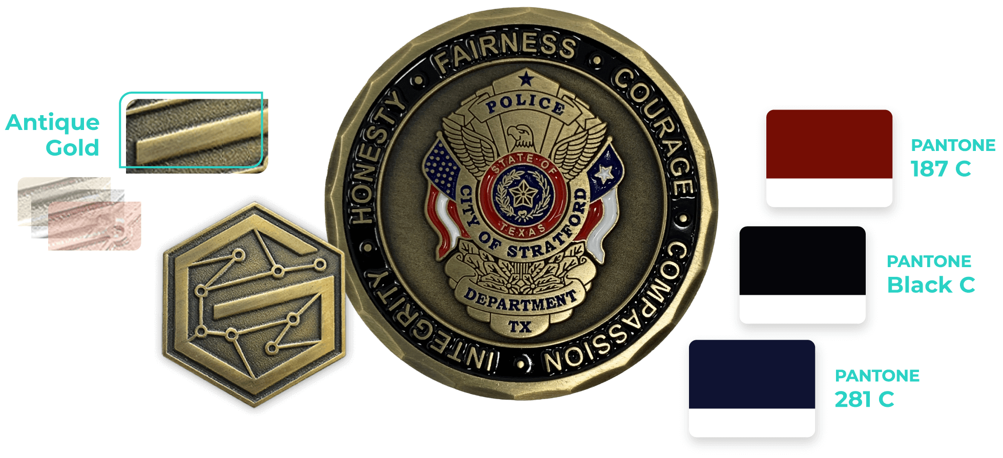 coins for the police industry