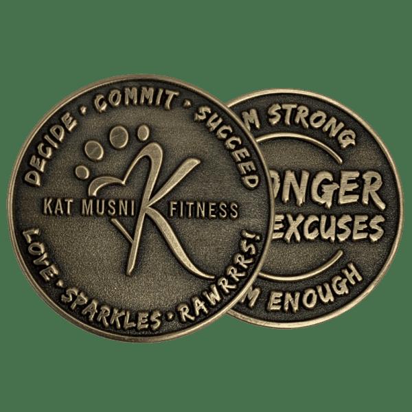 no color die-struck challenge coin