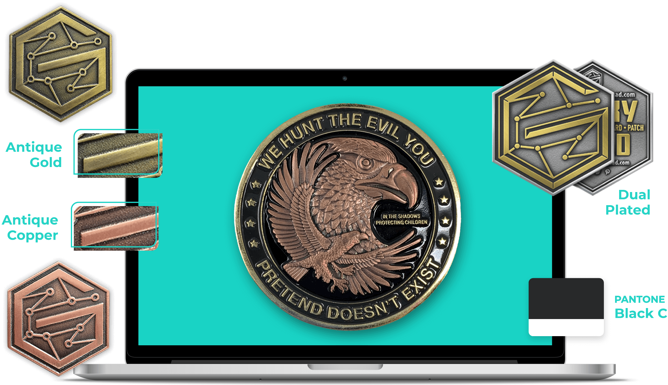 military custom coins metals
