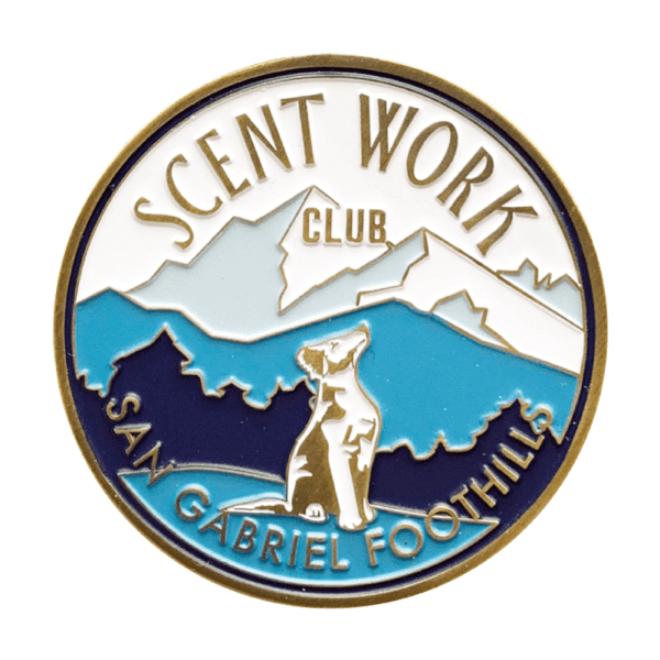 scent work club - one-sided color coin design