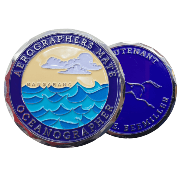 two-sided aerographers color coin